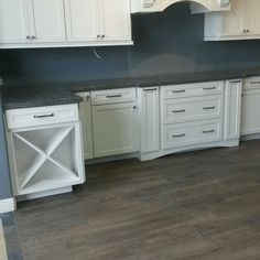 Image result for coastal gray caesarstone on white cabinets