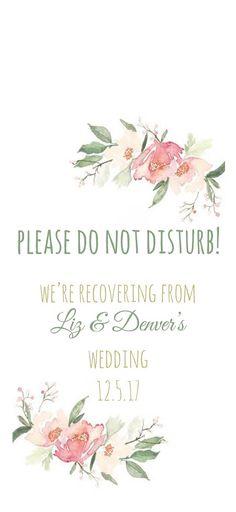 Door Hanger for Wedding Hotel Welcome Bag / Door Tags / Wedding Guest Favors