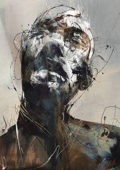 New works from Russ Mills AKA Byroglyphics abstract portrait Painting Inspiration, Art Inspo, Illustration Art Nouveau, Figurative Kunst, Arte Obscura, Art Watercolor, A Level Art, Portrait Art, Abstract Portrait Painting