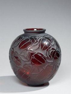 Rene Lalique - Scarab Beetles Vase.
