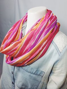Bright Stripes Infinity Scarf-Spring Accessories on Etsy, $15.00 CAD