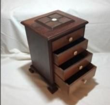 Load image into Gallery viewer, Pair of Miniature Mahogany Chest of Drawers Wood Drawers, Chest Of Drawers, Drawer Dividers, Centerpieces, Miniatures, Pairs, Antiques, Furniture, Gallery