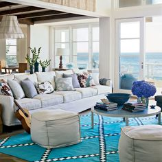 Seaside Lounging - Colorful, Cozy Spaces - Coastal Living