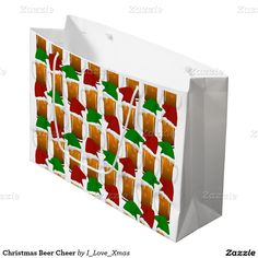 Christmas Beer Cheer Small Gift Bag by #I_Love_Xmas #Beer #Zazzle #Gravityx9 -