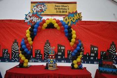 Comic Super Heroes Birthday Party Ideas   Photo 9 of 10   Catch My Party
