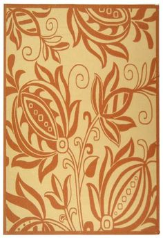 RugStudio presents Safavieh Courtyard CY2961-3201 Natural / Terra Machine Woven, Good Quality Area Rug