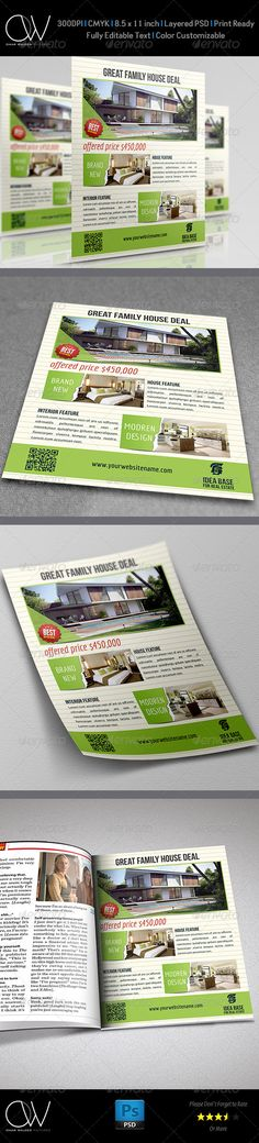 #Real #Estate #Flyer Vol.6 - Commerce Flyers Download here: https://graphicriver.net/item/real-estate-flyer-vol6/4731312?ref=alena994