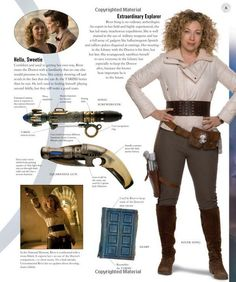 Doctor Who Cosplay and Costuming - River Song Breakdown.  I'm convinced that River Song and Zoe from Firefly are related, mostly because of the outfit and the awesome big wavy hair and the general awesomeness. :D