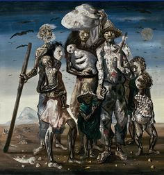 The Refugees, 1944 (oil on canvas) Artist - Portinari, Candido Brazilian Art Database, Arte Pop, Vincent Van Gogh, Lovers Art, American Art, Oil On Canvas, Contemporary Art, Art Pieces, Artsy