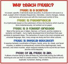 A music teacher is ...