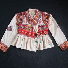 Rabari Jacket with Colourful Folk Art Embroidery by MadameHall, $195.00