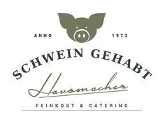 Exklusives Logo- und Corporate-Design für ein Fitnessstudio für Catering, Feinkost oder Metzgerei, Fleisch, Wurst – Schwein gehabt