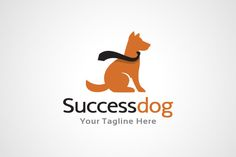 #Dog #logo #Template #animals #design by gunaonedesign on @creativemarket