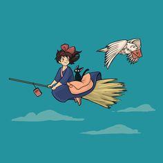 Kiki's Delivery Service and Harry Potter Anime Toon, Studio Ghibli Art, Cartoon Fan, Princess Drawings, Ghibli Movies, Witch Art, Snoopy, Hayao Miyazaki, Small Art