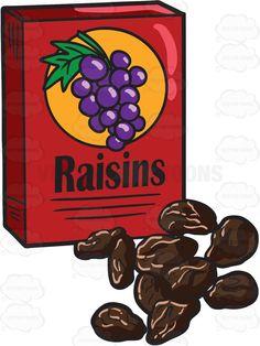 A box of raisins Viria, Cheese Cartoon, Dried Raisins, Board Game Design, Cute Easy Drawings, Stock Art, Illustration Art, Vector Illustrations, Aesthetic Art