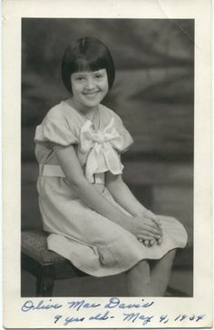 Olive Mae Davis at age 9 Celebrity Siblings, Celebrity Kids, Donny Osmond, Marie Osmond, Merrill Osmond, Osmond Family, Andy Williams, The Osmonds, Music Like