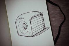 Stefan Fernandes Sketchbook_philips old speaker