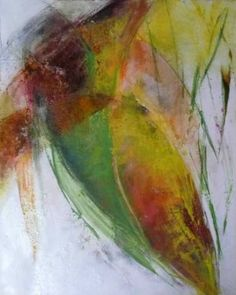 "Saatchi Art Artist Anja Stemmer; Painting, ""Flower-bud"" #art"