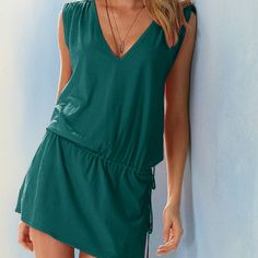 Summer dress V-neck women dress fashion