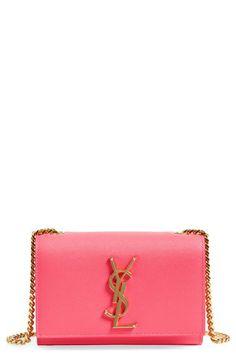 Saint Laurent 'Mini Monogram' Crossbody Bag available at My Bags, Purses And Bags, Ysl Purse, Lux Fashion, Chain Crossbody Bag, Leather Crossbody, Luxury Purses, Mini Handbags, Cute Bags