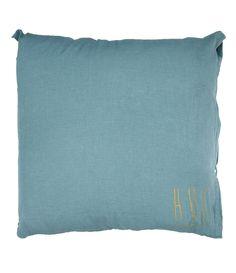 Grand Coussin Hug Mineral 80 x 80 - BED AND PHILOSOPHY - chambre Estelle et Didier : à prendre en coloris ORAGE