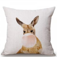 Those cute and funny pillow covers will bring originality and love to your house! Cushion Covers, Pillow Covers, Funny Pillows, Blowing Bubbles, Pikachu, Cute Animals, Product Launch, Cushions, Cotton