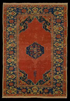 McMullan Ushak Small Medallion rug, 17th century. Joseph V. McMullan Collection. The Metropolitan Museum of Art, New York Dimensions: H. 60 1/2 in. (153.67 cm) W. 42 in. (106.68 cm)