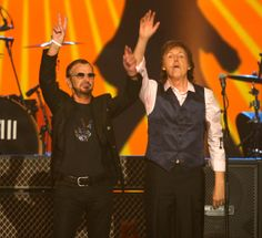 Ringo Starr and Paul McCartney perform at The Night that Changed America: A Grammy Salute to the Beatles, on Monday, Jan. 27, 2014, in Los Angeles.