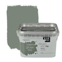 KARWEI-kleuren van Nu Wandfarbe matt tongrün l - . Wall Colors, House Colors, Decoration Entree, Home Trends, Colour Board, Scandinavian Interior, Kidsroom, My Room, Home Deco