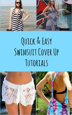 8 Quick and Easy Swimsuit Cover Ups - Craftfoxes