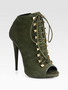 shopstyle.com: Giuseppe Zanotti Suede Lace-Up Ankle Boots