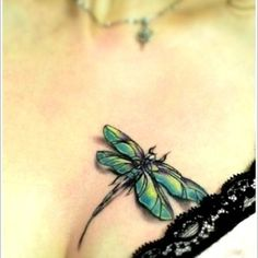 Sexy dragonfly tattoo