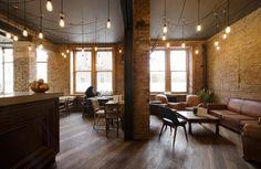 wood, brick, lighting