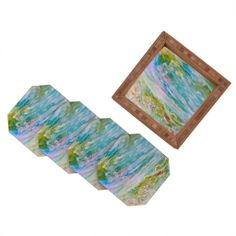 Rosie Brown Reflections In Watercolor Coaster Set | DENY Designs Home Accessories#coasters #bar #beverage #homedecor #art #denydesigns