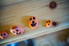 Halloween Kid Craft: Rock 'o' Lanterns from @Allison Ruth