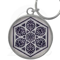 Turkish Ottoman Empire pattern 5 keychain from Zazzle.com