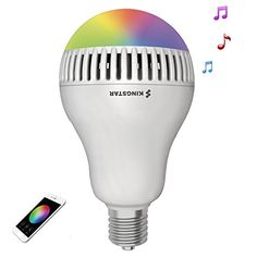 Kingstar Smart RGB Color Changing Music Ball LED Light E26  E27 Bulb Builtin Bluetooth Speaker Remote Controled Via App