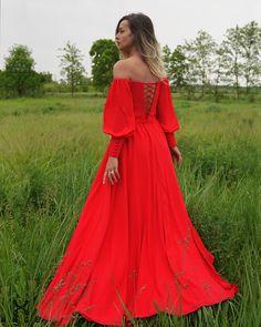 Rochie Rosie Lunga Corset Maneci Lungi Model Elegant Ocazie Banchet Majorat AngeAtelier.ro Shoulder Dress, Dresses, Fashion, Atelier, Vestidos, Moda, Fasion, Dress, Gowns