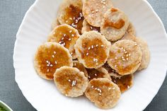 Homemade (brown) rice crackers!  // via The Year in Food.