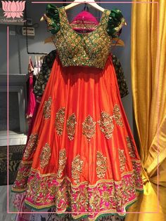 This beautiful traditional lehenga for a little girl.  kidsinmrunalinirao  mrunalinirao  mrunaliniraodesign  15 December 2016