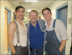 Jeremy and Clay with our awesome stage manager, Paul Smith. Photo by Laura Osnes