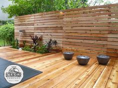 Horizontal plank fence. Hide unsightly pool equipment or garage. Or just for privacy from prying eyes.