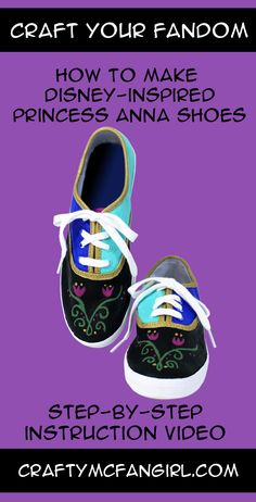 These Princess Anna Shoes make a great gift for the Disney Princess in your life. A DIY craft Tutorial Inspired by Disney's Frozen