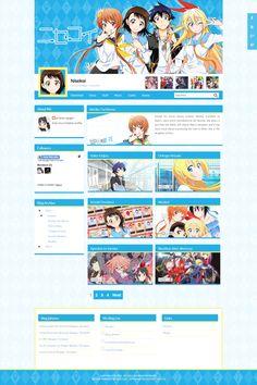 Nisekoi Blogger Template http://djogzs.blogspot.com/2014/01/nisekoi-blogger-template.html