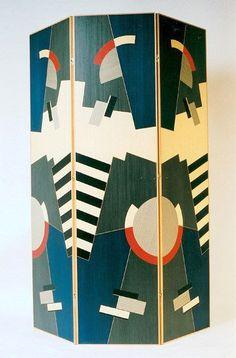 A Deco Screen by Jean-Michel Frank Folding Screen Room Divider, Room Screen, Folding Screens, Room Dividers, Partition Screen, Motif Art Deco, Art Deco Design, Art Deco Furniture, Furniture Design