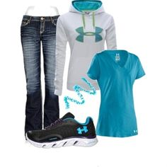 """""""Under Armour"""" by sandbunny on Polyvore - Click image to find more fashion posts"""
