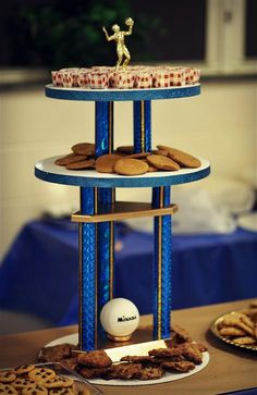Turn old trophies into dessert stands