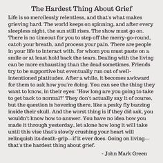 The Hardest Thing About Grief - by John Mark Green Loss Quotes, Me Quotes, The Words, Grieving Quotes, Miss My Mom, Daddy, Grief Support, Grief Loss, Child Loss
