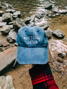 Not Today Satan Hat l Christian Hats l Dad Hats Christian Hats ded16827cf47