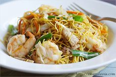 Chow Mein (Chinese Noodles) Recipe -   is also a favorite Chinese take-out item. Some shredded vegetables, some protein–either chicken, pork, beef, seafood, or combination–and you will have a perfect chow mein that is cheap, filling, and sinfully gratifying.   http://rasamalaysia.com/chow-mein-chinese-noodles-recipe/2/